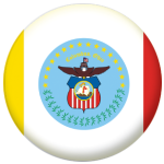 Columbus (Ohio) Flag 58mm Mirror Keyring